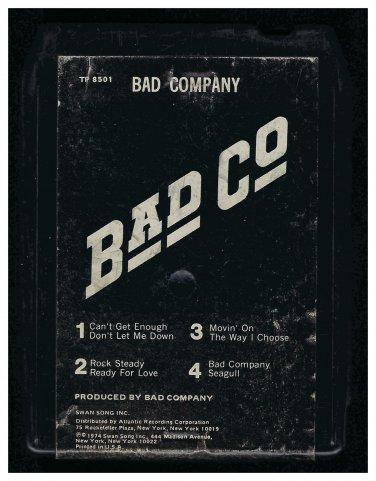 Bad Company - Bad Company 1974 Debut SWAN ATLANTIC A18F 8-TRACK TAPE