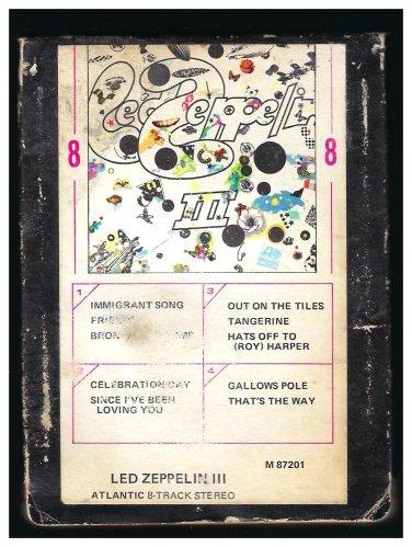 Led Zeppelin - Led Zeppelin III 1970 ATLANTIC A17A 8-TRACK TAPE