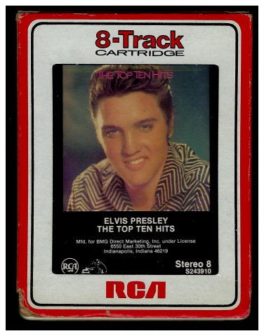 Elvis Presley - The Top Ten Hits 1987 RCA A2 8-TRACK TAPE