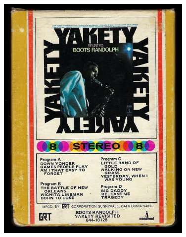Boots Randolph - Yakety Revisited 1969 GRT MONUMENT AC1 8-TRACK TAPE