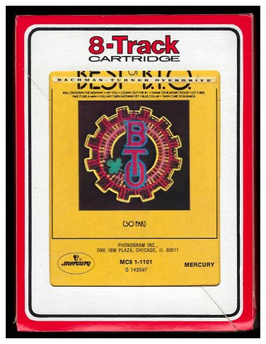 Bachman-Turner Overdrive - Best Of BTO (So Far) 1975 RCA MERCURY A13 8-TRACK TAPE
