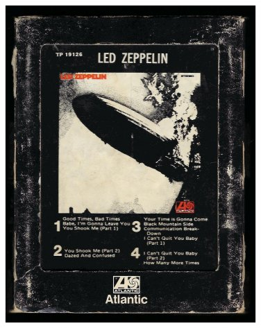 Led Zeppelin - Led Zeppelin 1969 Debut ATLANTIC Re-issue A13 8-TRACK TAPE
