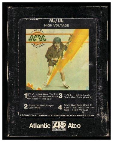 AC/DC - High Voltage 1976 ATLANTIC ATCO A13 8-TRACK TAPE