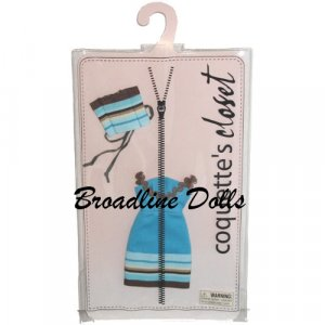 Electric Blues fashion outfit for 10 Inch Madame Alexander doll