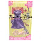 2005 Barbie Glamour Fashion Purple Top and Skirt with Wrap outfit