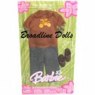 2005 His Style Ken Barbie fashion Brown Motorcycle Top and Jeans