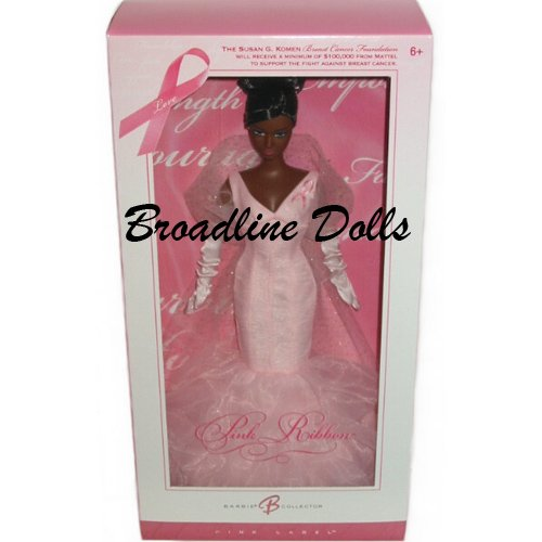 Barbie Pink Ribbon Breast Cancer Awareness doll African American version NRFB
