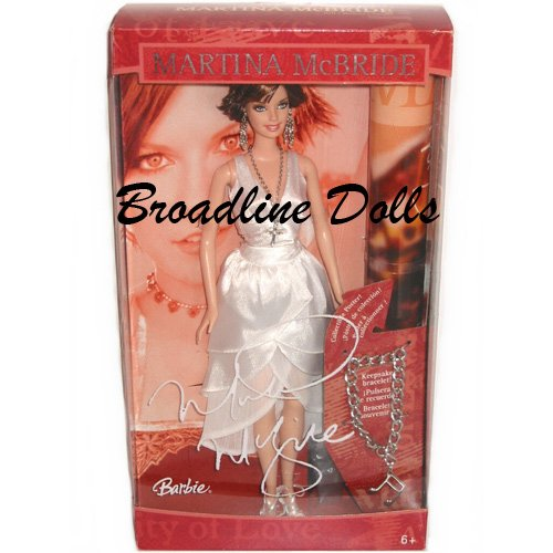 Martina McBride Barbie doll with Poster and Bracelet NRFB
