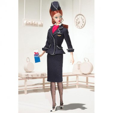 Silkstone Barbie The Stewardess Career BFMC doll NRFB