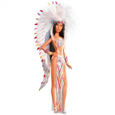 70's Cher Barbie Bob Mackie Half Breed Indian doll NRFB