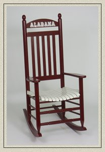 Rocking chair hardwood 200 slat collegiate alabama