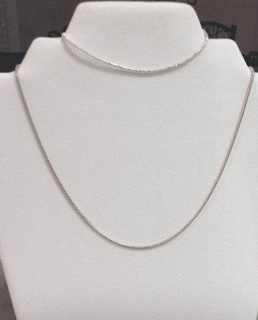 Sterling Silver Snake Necklace And Bracelet Set New