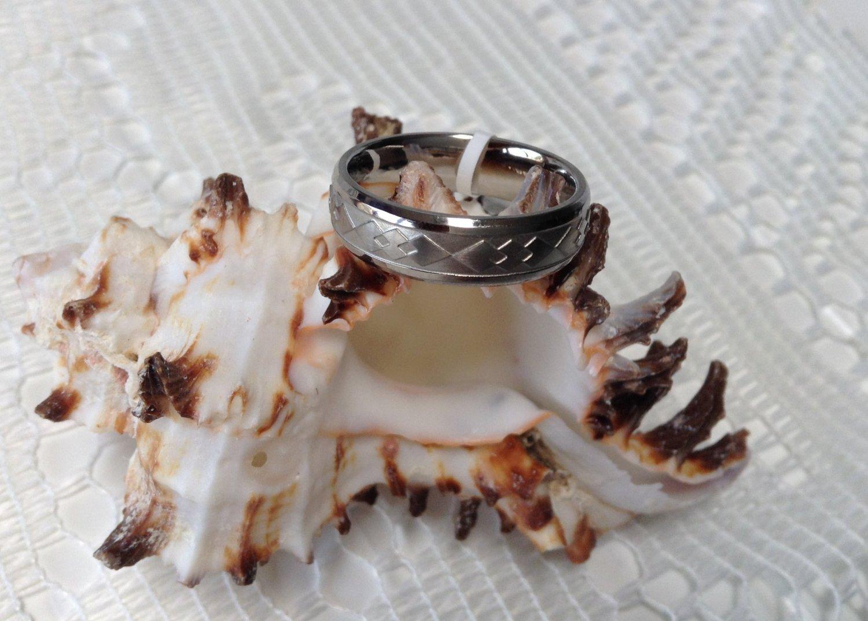 Titanium X Titanium Band Ring Sz 9