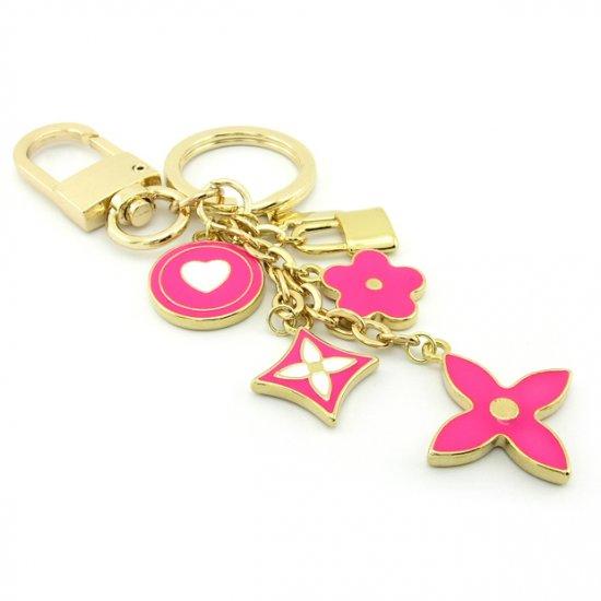 Keychain + Fashion Bag Charms -- Lovely Peach