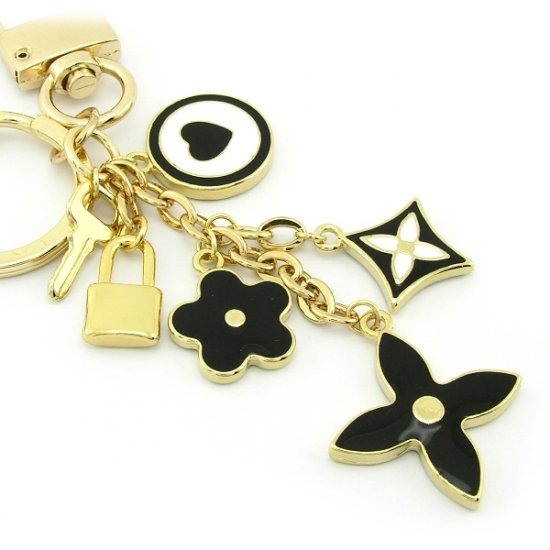 Keychain + Fashion Bag Charms -- Cold Black