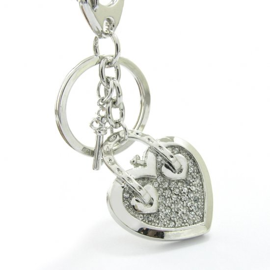"Keychain -- Fashion Bag ""Heart"" Charms"