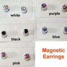 3mm Rhinestone Magnetic Earrings