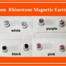 5mm Rhinestone Magnetic Earrings
