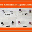 5mm Rhinestone Magnetic Earrings