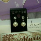 EP1 Swarovski Crystal Pearl Earrings (Cream)