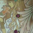 EP3 Swarovski Crystal Earrings (Purple)