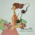 EP7 Swarovski Crystal Pearls Earrings (Burgundy)