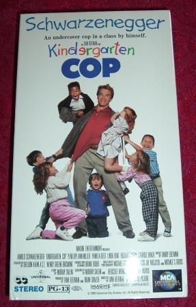 VHS - Kindergarten Cop Rated PG-13