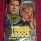 VHS - Turner and Hooch Rated PG-13 starring Tom Hanks