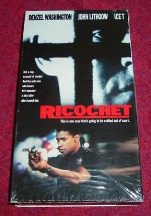 VHS - Ricochet Rated R starring Denzel Washington and John Lithgow