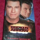 VHS - Broken Arrow Rated R starring John Travolta and Christian Slater