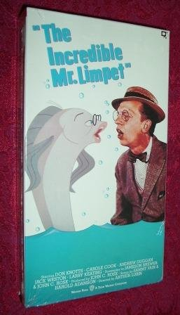 Vhs the incredible mr limpet starring don knotts for Don knotts fish movie