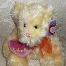 Yellow Plush Valentine Teddy Bear