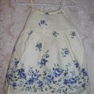 Toddler Girls Yellow and Blue Floral Dress Size 3T