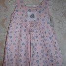 Toddler Girls Pink Heart Sleeveless Dress Size 3T