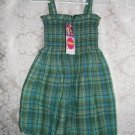 Toddler Girls Green Plaid Seesucker Dress Size 3T