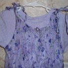 Toddler Girls Floral Lilac 2 Piece Dress Size 3T