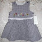 Toddler Girls Navy Plaid Dress Size 2T