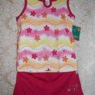 Toddler Girls Raspberry Floral Short Set Size 4T