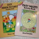 Paperback – Two Activity Books – Easy Mazes and Easy Hidden Pictures from Dover Publications
