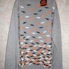 Girls Halloween Bats Long Sleeve T-Shirt Size L 10-12