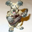 Vintage Cast Iron Dog Skye Terrier Souvenir Newport R.I.