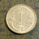 1944 French West Africa 1 franc