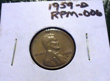 1959-D RPM-006 Lincoln cent