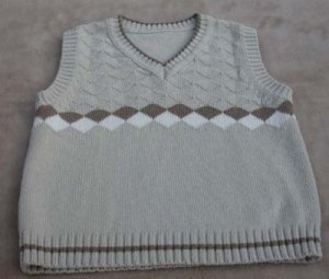 Toddler Boy Vest Beige Size 4T