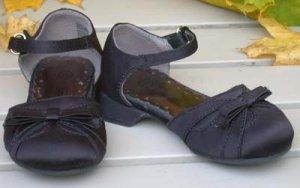 """Girls Satin Dress Shoes Black Toddler """"Smart Fit"""" Size 5 1/2"""