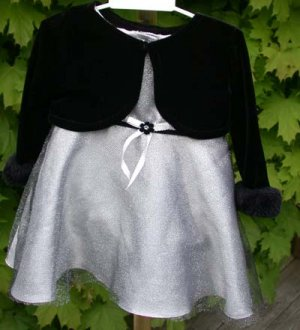 Infant Dress Holiday Special Occasion Dressy Size 12M