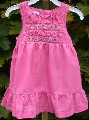 Infant/Toddler Girls Dress Pink Corduroy 12Mo Sprockets