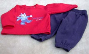 Infant Sweat Set 6/9 Mo  Peek a Babe
