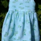 Toddler Dress Blue with Yellow Flowers Laura Ashley 24M