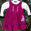 Infant Disney Dress Size 24mo  Deep Pink